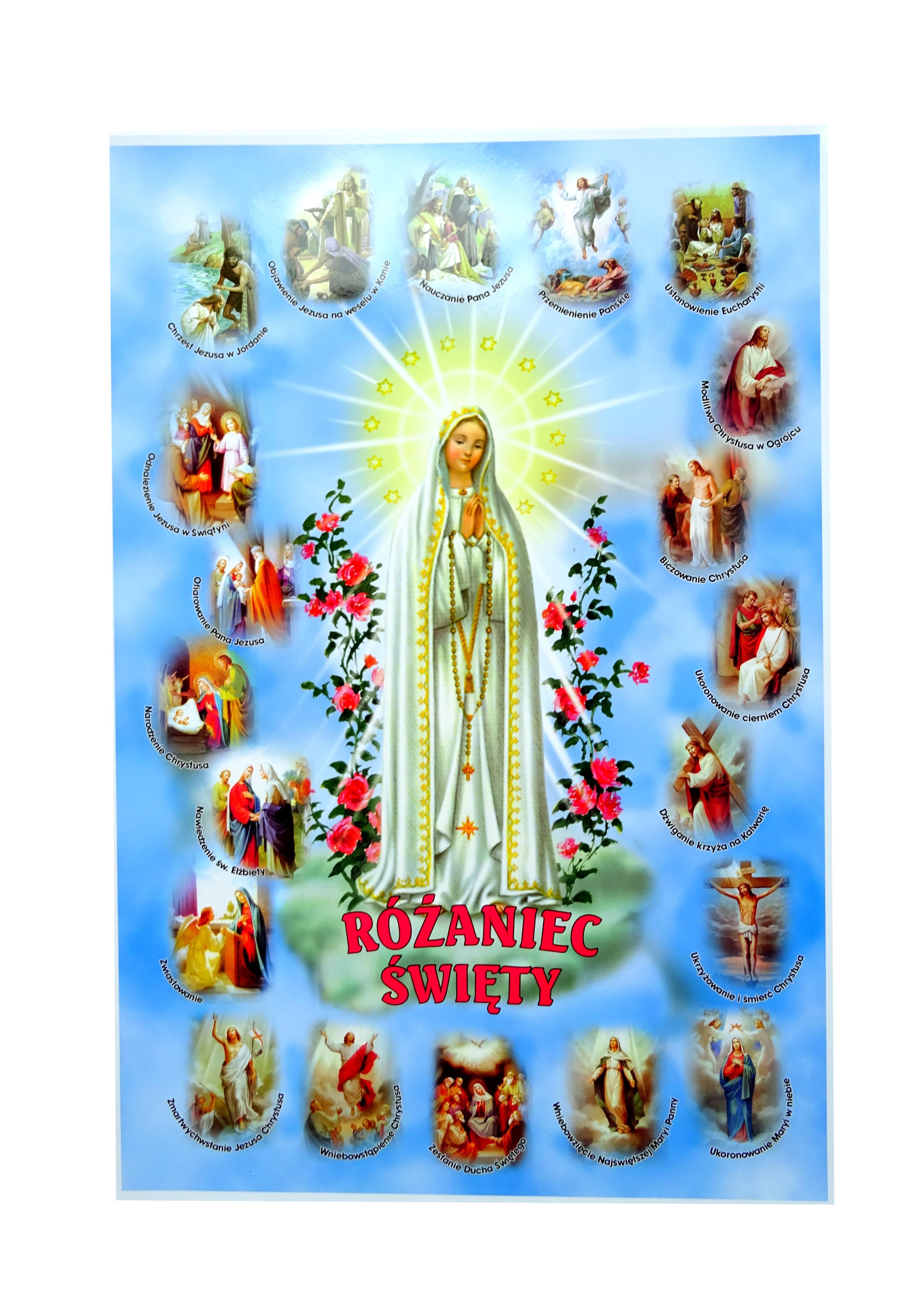 Plakat Nabożeństwo Różańcowe Matka Boska Fatimska